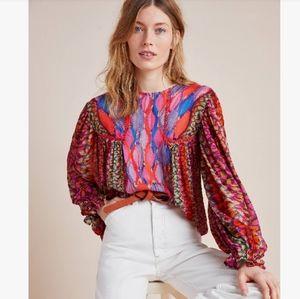 🆕 Anthropologie bl nk Miranda peasant boho blouse